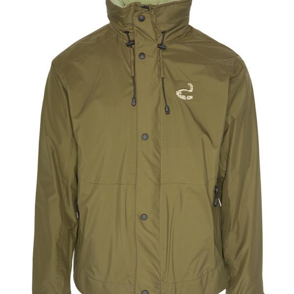 La chaqueta Korax es muy ligera impermeable y sin aislamiento térmico.